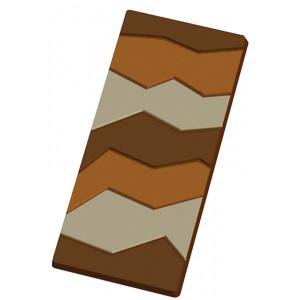 Moule Tablette de Chocolat Craquelée x5
