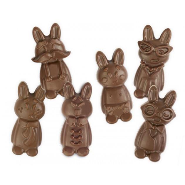 Moule Chocolat Silicone Drôles de Lapins (x12) Scrapcooking