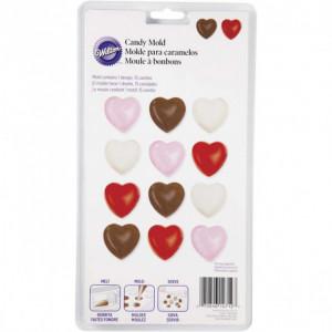 Moule Chocolat Bonbon Coeur 15 empreintes Wilton