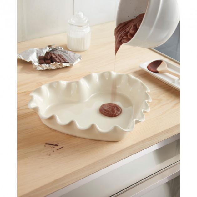 Fondant au chocolat dans le Moule Coeur Corolle Argile Emile Henry