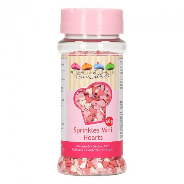 Mini Coeurs en sucre Rose/Rouge/Blanc 60g Funcakes