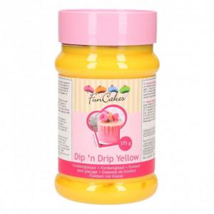 Glaçage Dip'n Drip Jaune 375 g Funcakes