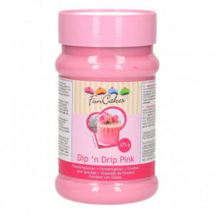 Glaçage Dip'n Drip Rose 375 g Funcakes