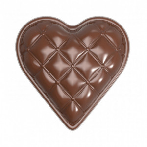 Moule Chocolat Coeur Matelassé 33 mm (x18) Chocolate World
