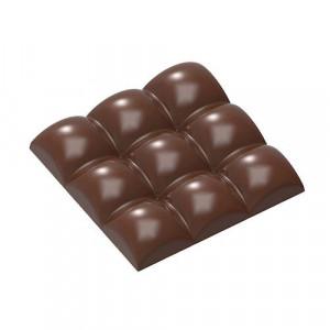 Moule Chocolat Tablette 9 Carrés Bombés 79,5 mm (x3) Chocolate World