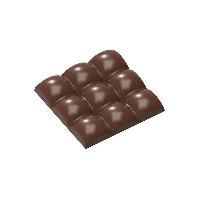 Moule Chocolat Tablette 9 Carres Bombes 79.5 mm (x3) Chocolate World