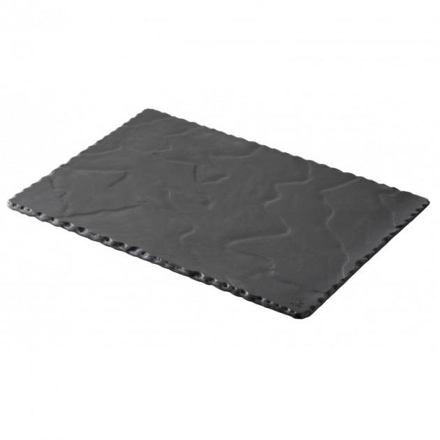 Assiette Rectangulaire Ardoise 30 x 20 cm Basalt Revol