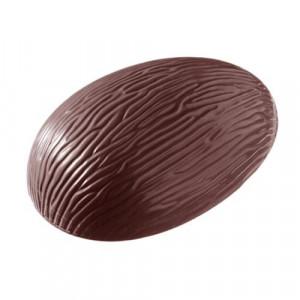 Moule Chocolat Oeuf Rayé 11,8 cm (x3) Chocolate World