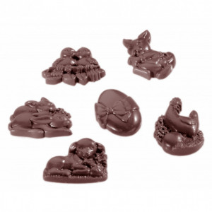 Moule Chocolat Friture de Pâques 4,5 cm (x18) Chocolate World