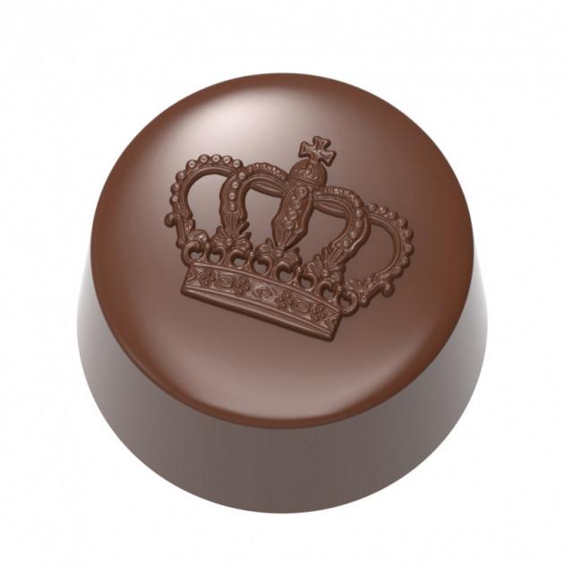 Moule Chocolat Bonbon Couronne Ø3 cm (x21) Chocolate World