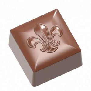 Moule Chocolat Cube Lys 26x26 mm (x24) Chocolate World