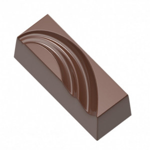 Moule Chocolat Rectangle avec Trait (x24) Chocolat Form