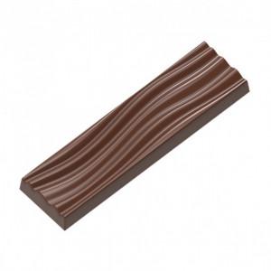 Moule Chocolat Rectangle Ondulation (x7) Chocolat Form