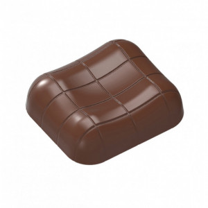 Moule Chocolat Rectangle Rayé 35x31 mm (x21) Chocolat Form