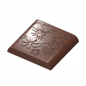 Moule Chocolat Carré Arrondi Fleur (x18) Chocolat Form