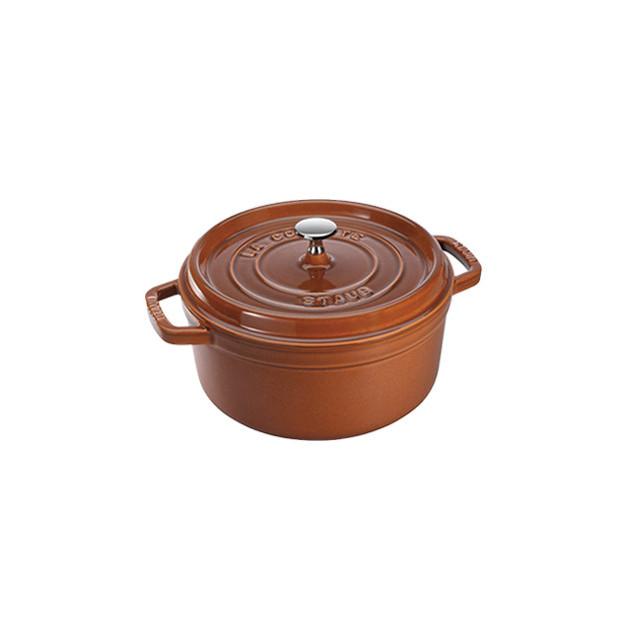 STAUB Cocotte Fonte Ronde 28 cm Cannelle Majolique 6.7 L