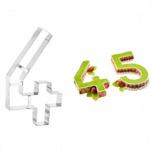 Grand Emporte Pièce Inox Chiffre 4 32x18 cm