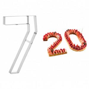 Grand Emporte Pièce Inox Chiffre 7 32 x 19 cm