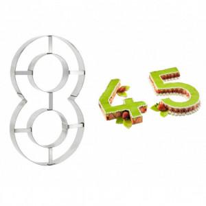 Grand Emporte Pièce Inox Chiffre 8 32x18 cm