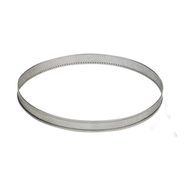 Cercle a Tarte Inox Perfore bords plies pour grands diametres