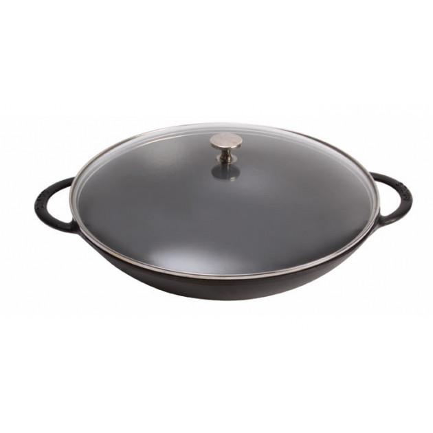 Wok en Fonte Noir 37 cm Staub