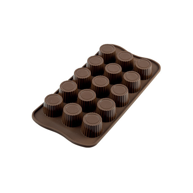 Moule a Chocolat 15 Ronds Nervures Easy Choc - Silicone Special Chocolat