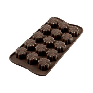 Moule à Chocolat 15 Fleurs Easy Choc - Silicone Spécial Chocolat