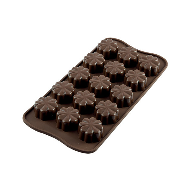 Moule a Chocolat 15 Fleurs Easy Choc - Silicone Special Chocolat