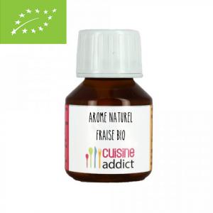 Arôme Alimentaire Bio Fraise 58 ml Cuisineaddict