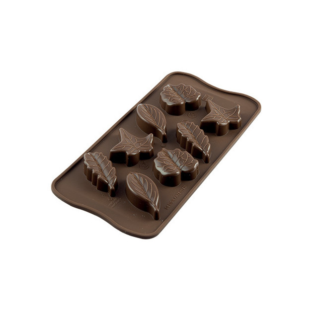 Moule a Chocolat 8 Feuilles Easy Choc - Silicone Special Chocolat