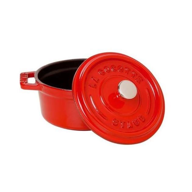 Cocotte Ronde 18 cm Rouge Staub Fonte 1.7 l