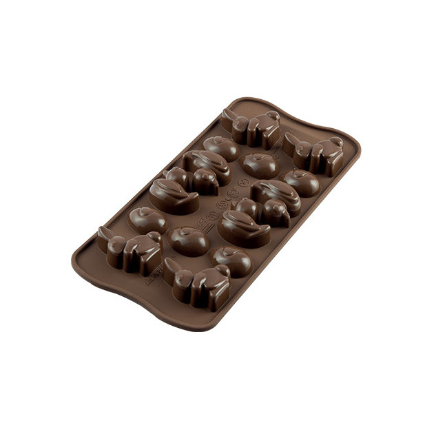 Moule a Chocolat 14 Sujets de Paques Easy Choc - Silicone Special Chocolat