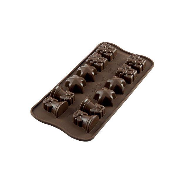 Moule a Chocolat 12 Sujets Noel Easy Choc - Silicone Special Chocolat