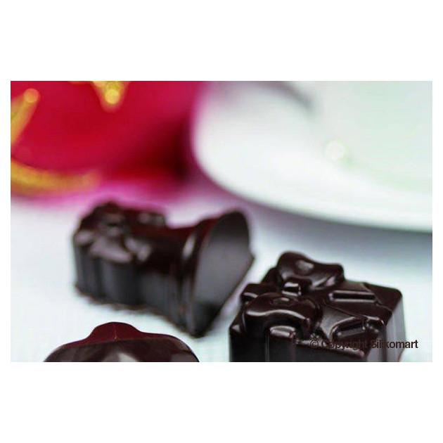 Chocolats de Fete realises avec le moule silicone Easy Choc