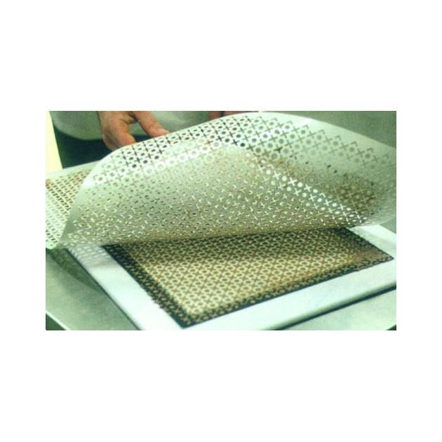 Pochoir plastique motif ovale 15x7 mm