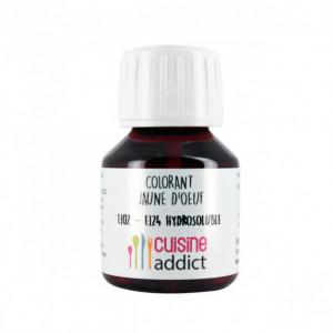 Colorant Alimentaire Jaune d'Oeuf E102/E124 Liquide 58 ml Cuisineaddict