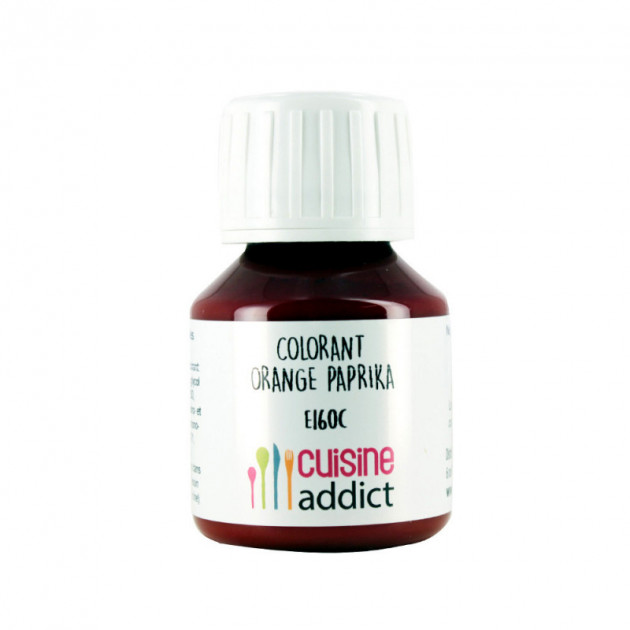 Colorant Alimentaire Naturel Orange Paprika Liquide 58 ml Cuisineaddict