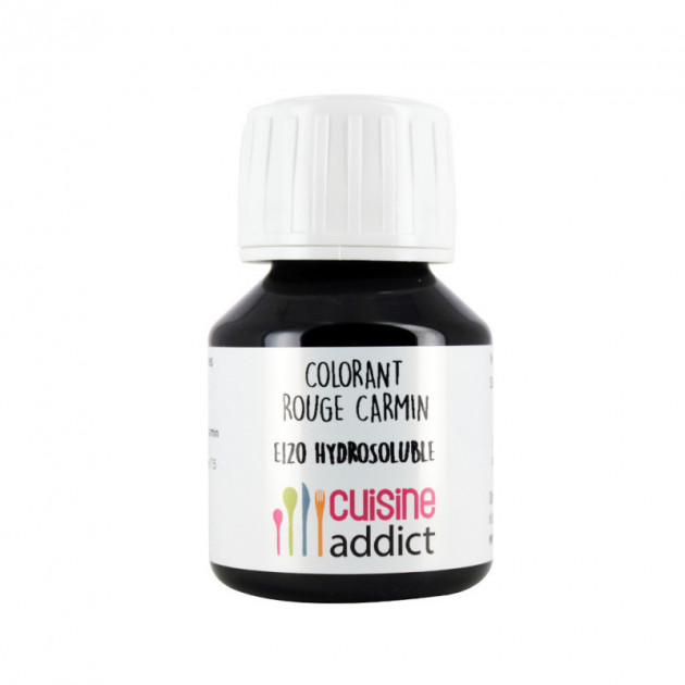 Colorant Alimentaire Naturel Rouge Carmin E120 Liquide 58 ml Cuisineaddict