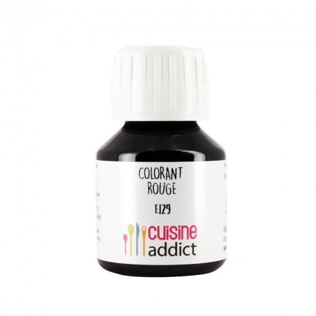 Colorant Alimentaire Rouge Coquelicot E129 Liquide 58 ml Cuisineaddict