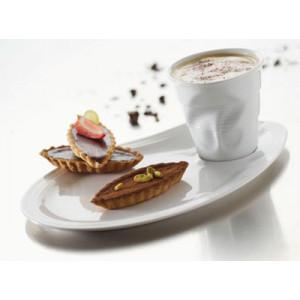 FIN DE SERIE Assiette Café Gourmand Froissée x6 Revol