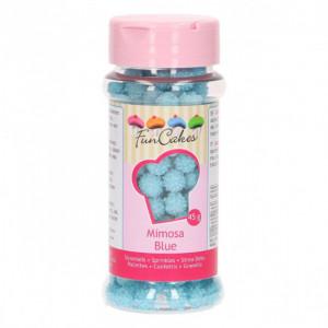 Décors en Sucre Mimosa Bleu 45g Funcakes