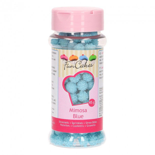 Decors en sucre Mimosa Bleu 45 g Funcakes