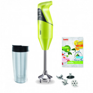 Coffret Mixeur Plongeant Bamix Vert Anis Mix&Go 16000 tr/mn