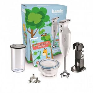 Coffret Mixeur Plongeant Bamix Blanc Baby Line 18000 tr/mn