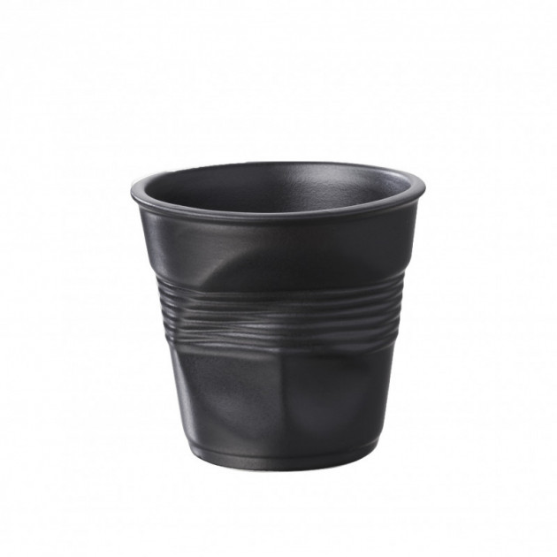 Gobelet Froisse Noir Satine 8cl Revol