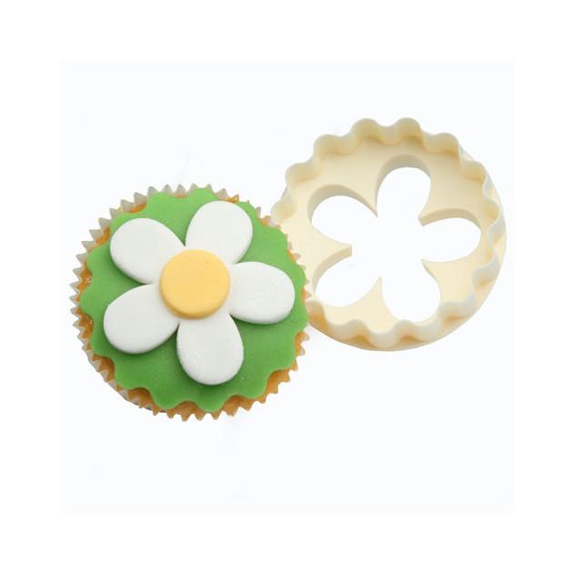 Emporte piece double cote  Fleur 5 petalles pour Cupcakes