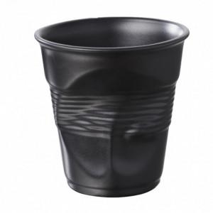 Gobelet Froissé Noir Satiné 18cl Revol