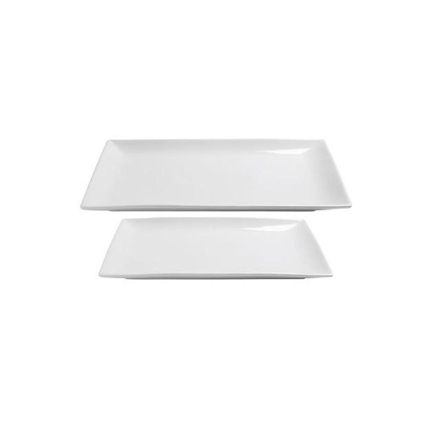 Assiette Plate Porcelaine Clelia 20 x 13 cm In Situ
