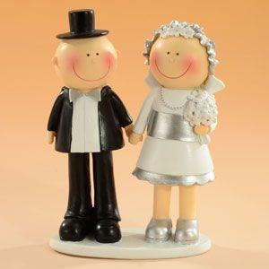 Figurine Anniversaire de Mariage Noces d'argent 15 cm