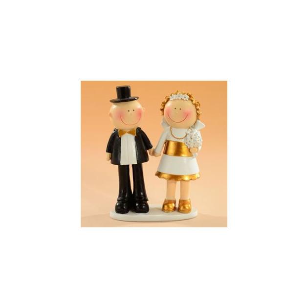 Figurine Anniversaire de Mariage Noces d'or 15 cm